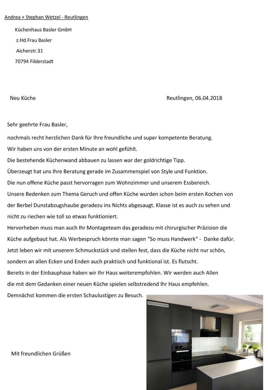 Referenz Kueche Reutlingen Kuchenhaus Basler Filderstadt
